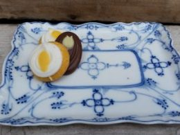 Blau Saks geschulpt Bonbonschaaltje