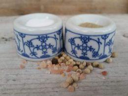Peper en zoutstelletje Blau Saks (setje van 2 st)