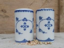 Peper en zout vaatje Blauw Saks Indian blue