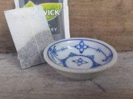 Mini theetipje, klein schaaltje voor theezakje Blau Saks