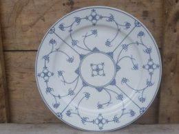 Dinerborden, platte borden  Blau Saks hotelporselein Jager