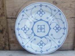 Dinerborden, platte borden Blau Saks Winterling marktleuthen / royal bavaria