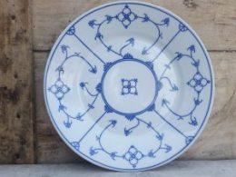 Dinerborden platte borden , Blau Saks Eisenberg DDR