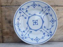 Blau saks ontbijtbord Eisenberg DDR ontbijtborden
