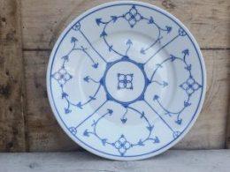 Dinerborden  platte borden Blau Saks Jäger groene stempel