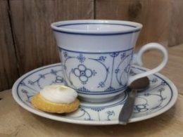 Koffiekopje, kop en schotel Blau Saks Winterling of Royal Bavaria