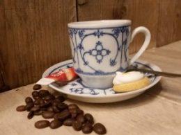 Espresso kop en schotel Blau Saks Winterling 110 ml recht model