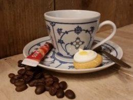 Koffiekopje, kop en schotel Blau Saks Jäger