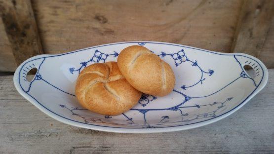 Broodschaal Fruitschaal Blau Saks Jager Eisenberg DDR