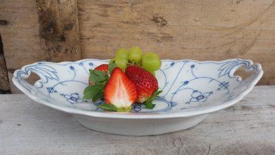 Fruit/broodschaal Blau Saks sierlijk klein model