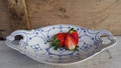 Fruitschaal blau Saks Moschendorf Bavaria