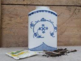 Blau saks voorraadpotje voor losse thee porselein
