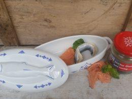 Ovenschaal voor visgerechten, visdoos, visschaal Blau Saks