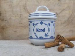 Blau Saks Jäger kruidenpotjes, kruidenpotten Zweedse opdruk
