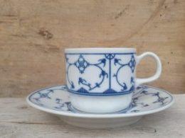 Koffiekopje, kop en schotel Blau Saks Alba iulia of ongestempeld