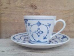 Koffiekopje, kop en schotel Blau Saks Kobaltunterglasur Kahla / aparte serie!!