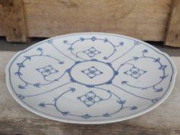 Blauw Saks Winterling gebakschaal vlaaischotel  taartschaal