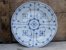 Geschulpte platte borden, dinerborden  Bavaria Oscar Schaller blau saks