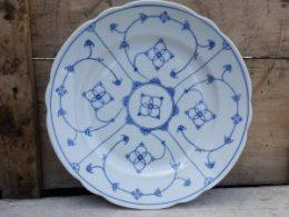 Geschulpte platte borden, dinerborden Blau saks