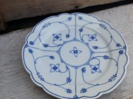 Geschulpte gebaksbordjes, dessertbordjes  Bavaria Schwarzenhammer