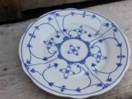 Geschulpte gebaksbordjes dessertbordjes Blau saks Bavaria Moschendorf