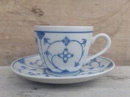 Koffiekopje, kop en schotel  Blau Saks