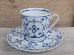 Koffiekopje, kop en schotel Bavaria Unterglasur