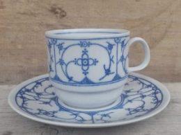 Koffiekopje, kop en schotel Bareuther Blau Saks
