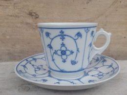 Koffiekopje, kop en schotel Winterling Blau Saks