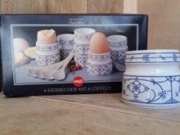 Cadeauset kunststof eierdopjes Blau saks Emsa