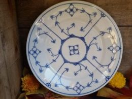 Dinerborden  platte borden    Blau Saks Jäger oude blauwe stempel