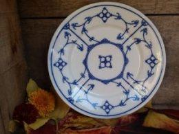 Blau saks ontbijtbord  Jäger  oude blauwe stempel ontbijtborden