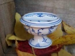 Blau Saks zoutbakje antiek