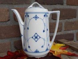 Antieke koffiepot blauw saks 1,5 liter
