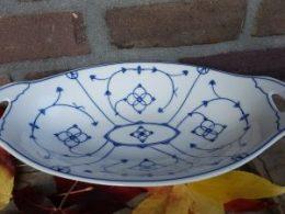 Broodschaal, fruitschaal blauw saks