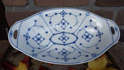 Broodschaal, fruitschaal blauw saks Jager