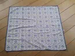 Tafelkleedje, dekkleedje blauw saks