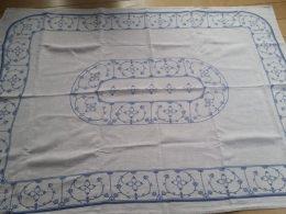 Blauw saks tafelkleed