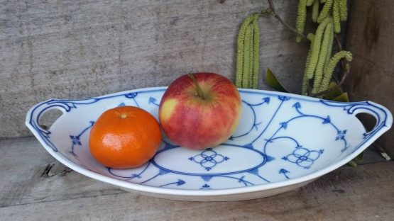 Blau saks fruitschaal / broodschaal Reinecke