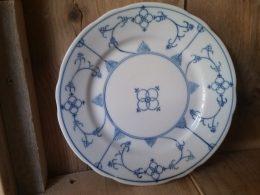 Blau saks ontbijtbord geschulpt Rhenania Duisdorf