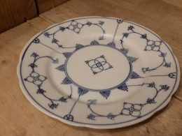 blauw saks ontbijtbord