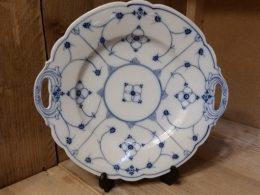 Koekjesschaal, presentatieschaal blauw saks antiek model