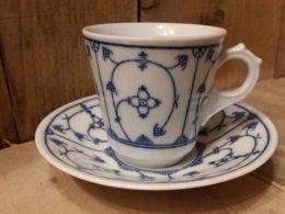 Koffiekopje, kop en schotel, Eisenberg DDR GROOT MODEL