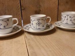 Koffiekopje, kop en schotels Blau Saks Jäger origineel Design