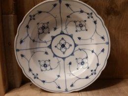Blau saks antieke geschulpte soepborden, diepe borden