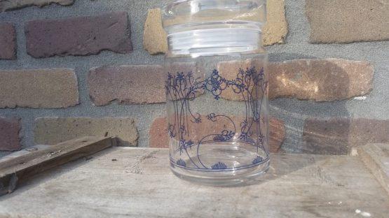 Glazen potten Blauw saks