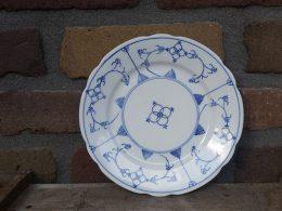Geschulpte ontbijtborden blauw saks Rhenania Duisdorf