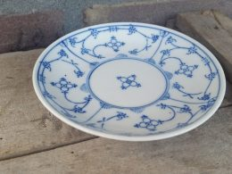 Blau saks schotel voor een kopje gestempeld Duisdorf Rhenania