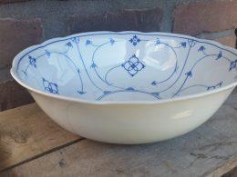 Blau saks ronde kom geschulpt Bavaria