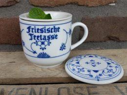 Thee-beker friesische teetasse Blauw saks